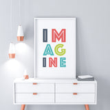 IMAGINE - imagine print - home decor