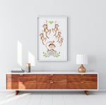 Personalised Family monkey print