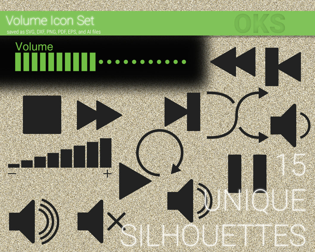 Volume Icon svg, dxf, vector, eps, clipart, cricut, download