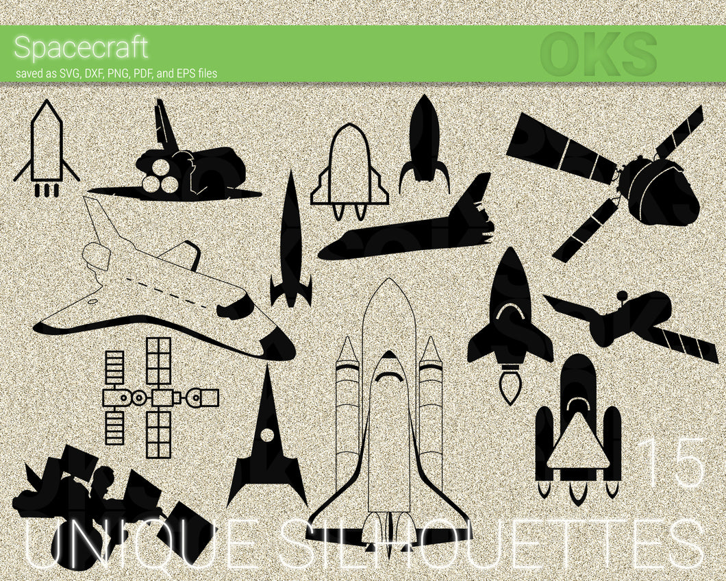 Spaceship, spacecraft, space svg, dxf, vector, eps, clipart, cricut, download