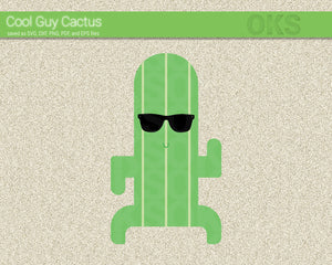 FREE Cool Guy Cactus svg, dxf, vector, eps, clipart, cricut, download