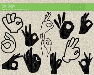 OK sign svg, dxf, vector, eps, clipart, cricut, download