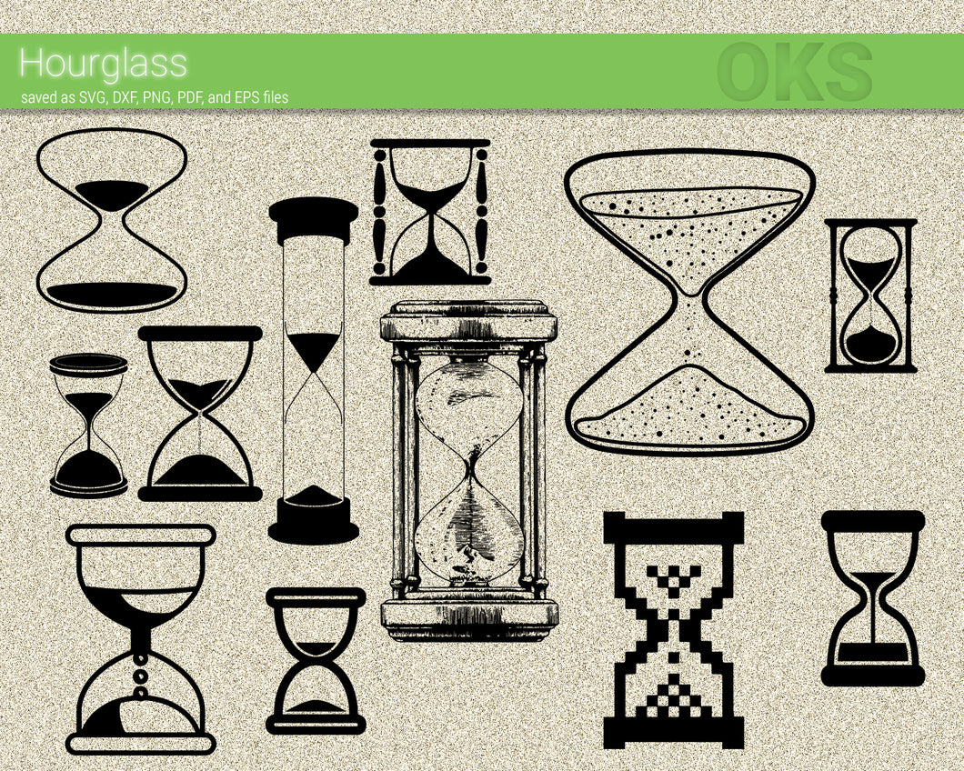 FREE hourglass svg, dxf, vector, eps, clipart, cricut, download