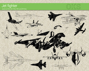 jet fighter svg, dxf, vector, eps, clipart, cricut, download