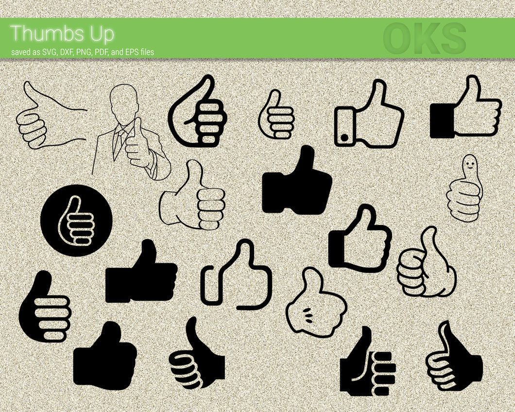 thumbs up hand gesture svg, dxf, vector, eps, clipart, cricut, download