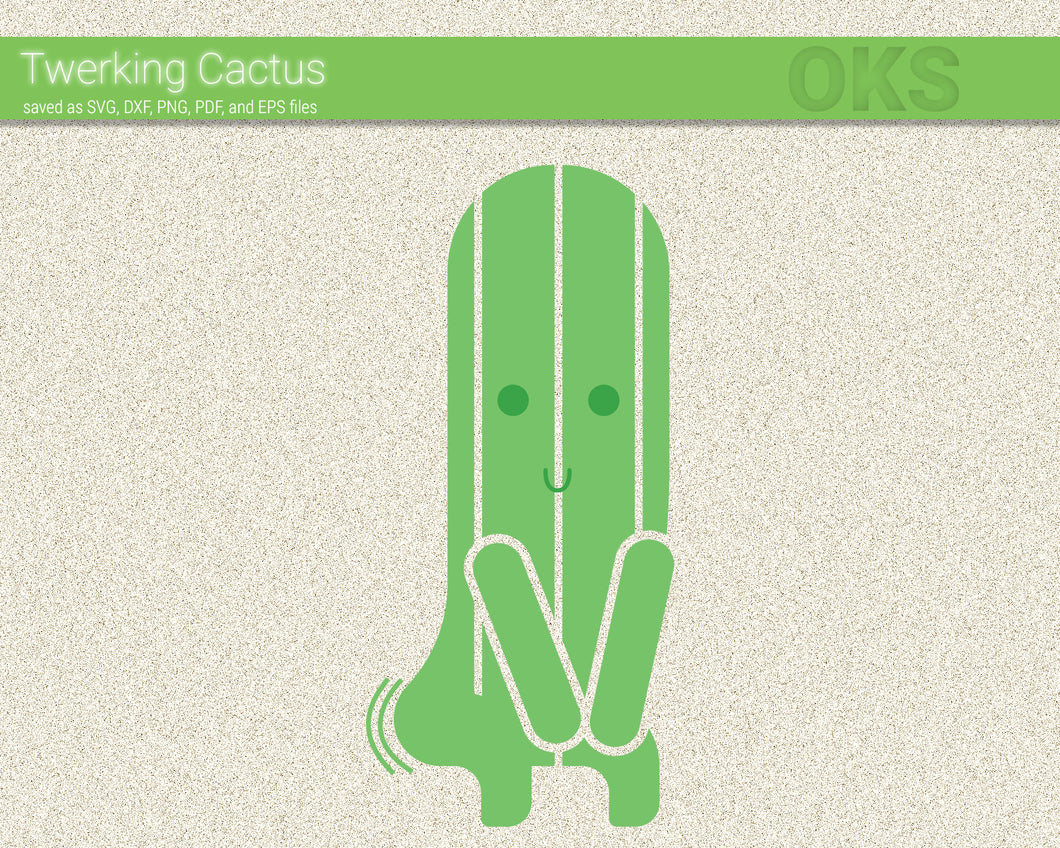 FREE twerking cactus svg, dxf, vector, eps, clipart, cricut, download