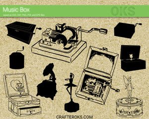 music box svg, dxf, vector, eps, clipart, cricut, download