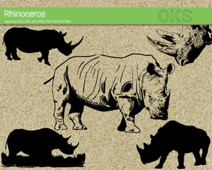rhino, rhinoceros svg, dxf, vector, eps, clipart, cricut, download