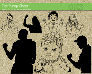 FREE fist pump cheer svg, dxf, vector, eps, clipart, cricut, download