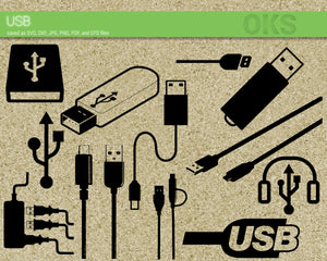 FREE USB svg, dxf, vector, eps, clipart, cricut, download