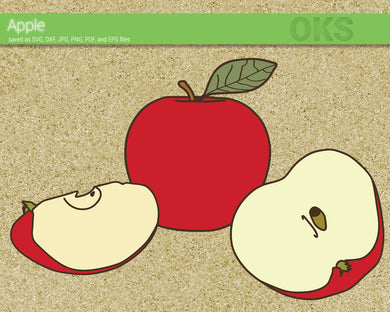 FREE apple svg, dxf, vector, eps, clipart, cricut, download