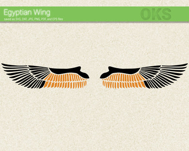 egyptian wing svg, dxf, vector, eps, clipart, cricut, download