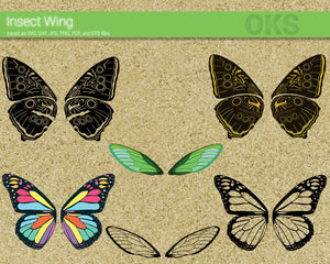 Insect Wings SVG, PNG, DXF, clipart, EPS, vector cut file instant download