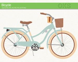 bicycle svg, dxf, vector, eps, clipart, cricut, download