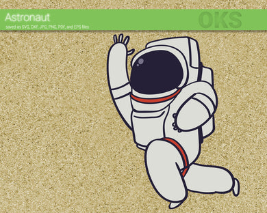 FREE astronaut svg, dxf, vector, eps, clipart, cricut, download