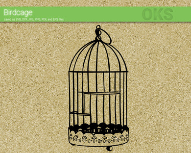 FREE bird cage svg, dxf, vector, eps, clipart, cricut, download