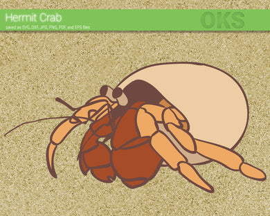 FREE hermit crab svg, dxf, vector, eps, clipart, cricut, download