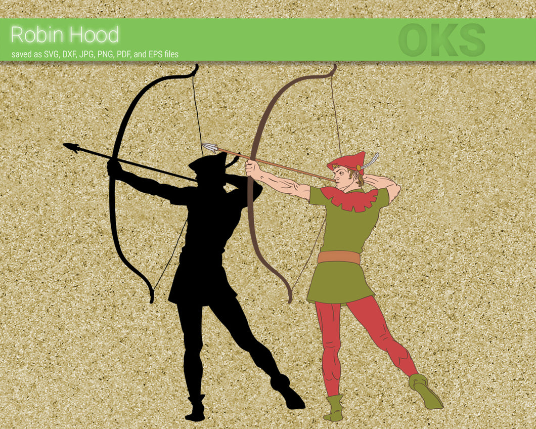 FREE archer robin hood svg, dxf, vector, eps, clipart, cricut, download