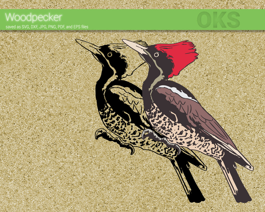 FREE woodpecker svg, dxf, vector, eps, clipart, cricut, download