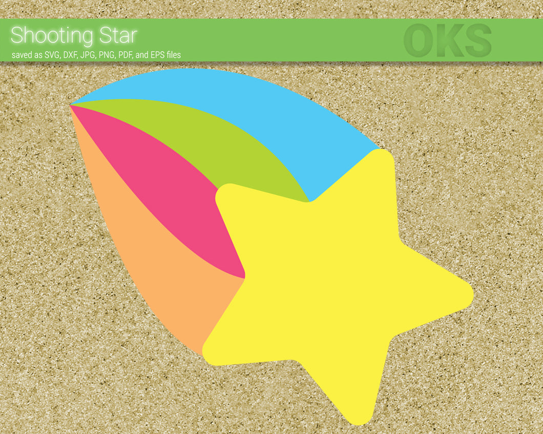 FREE shooting star svg, dxf, vector, eps, clipart, cricut, download