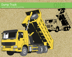 FREE colored dump truck svg, dxf, vector, eps, clipart, cricut, download