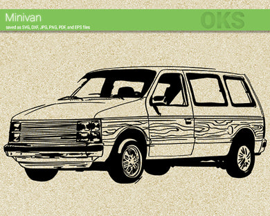 minivan svg, dxf, vector, eps, clipart, cricut, download