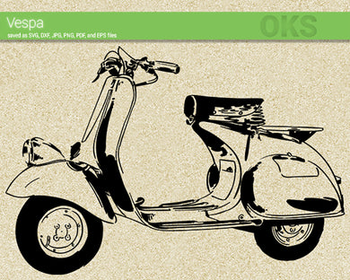 vespa svg, dxf, vector, eps, clipart, cricut, download