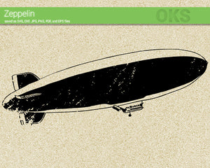 zeppelin, blimp SVG cut files, DXF, vector EPS cutting file instant download for cricut and other uses