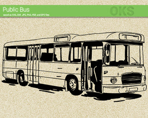 FREE public bus svg, dxf, vector, eps, clipart, cricut, download
