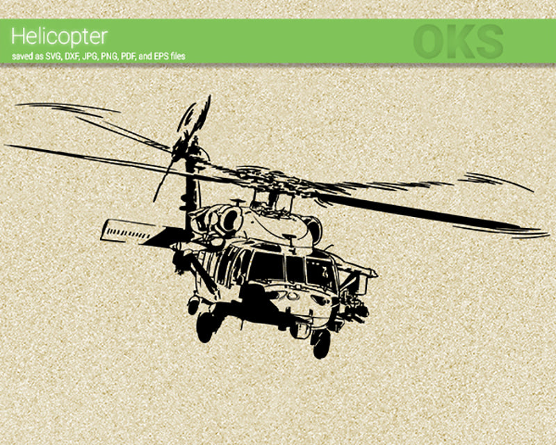 military helicopter svg, dxf, vector, eps, clipart, cricut, download