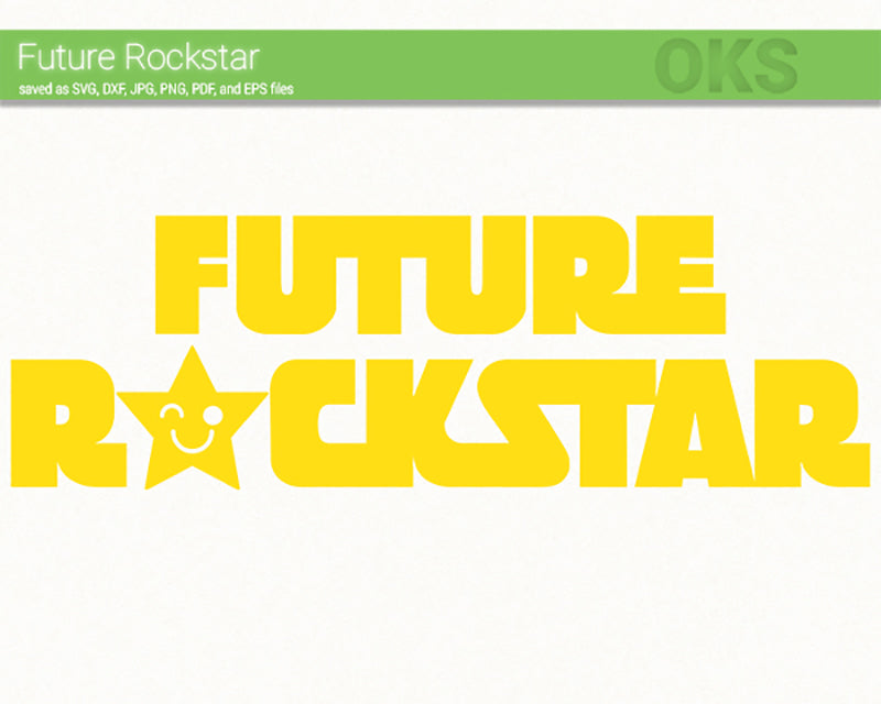 FREE future rockstar svg, dxf, vector, eps, clipart, cricut, download
