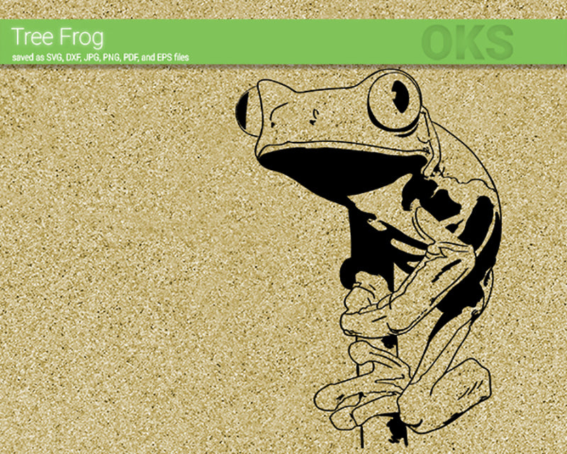 tree frog svg, dxf, vector, eps, clipart, cricut, download