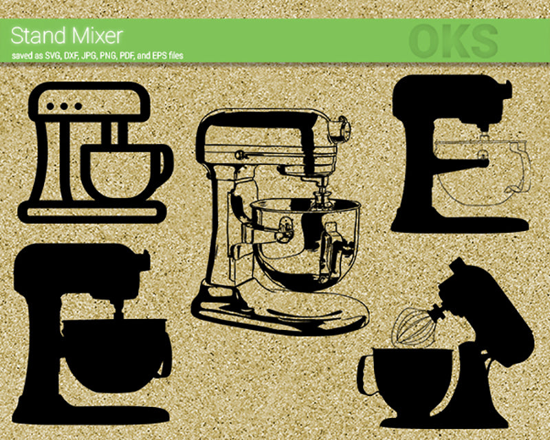 stand mixer svg, dxf, vector, eps, clipart, cricut, download