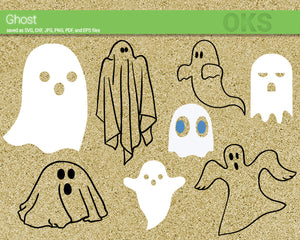 ghost svg, dxf, vector, eps, clipart, cricut, download