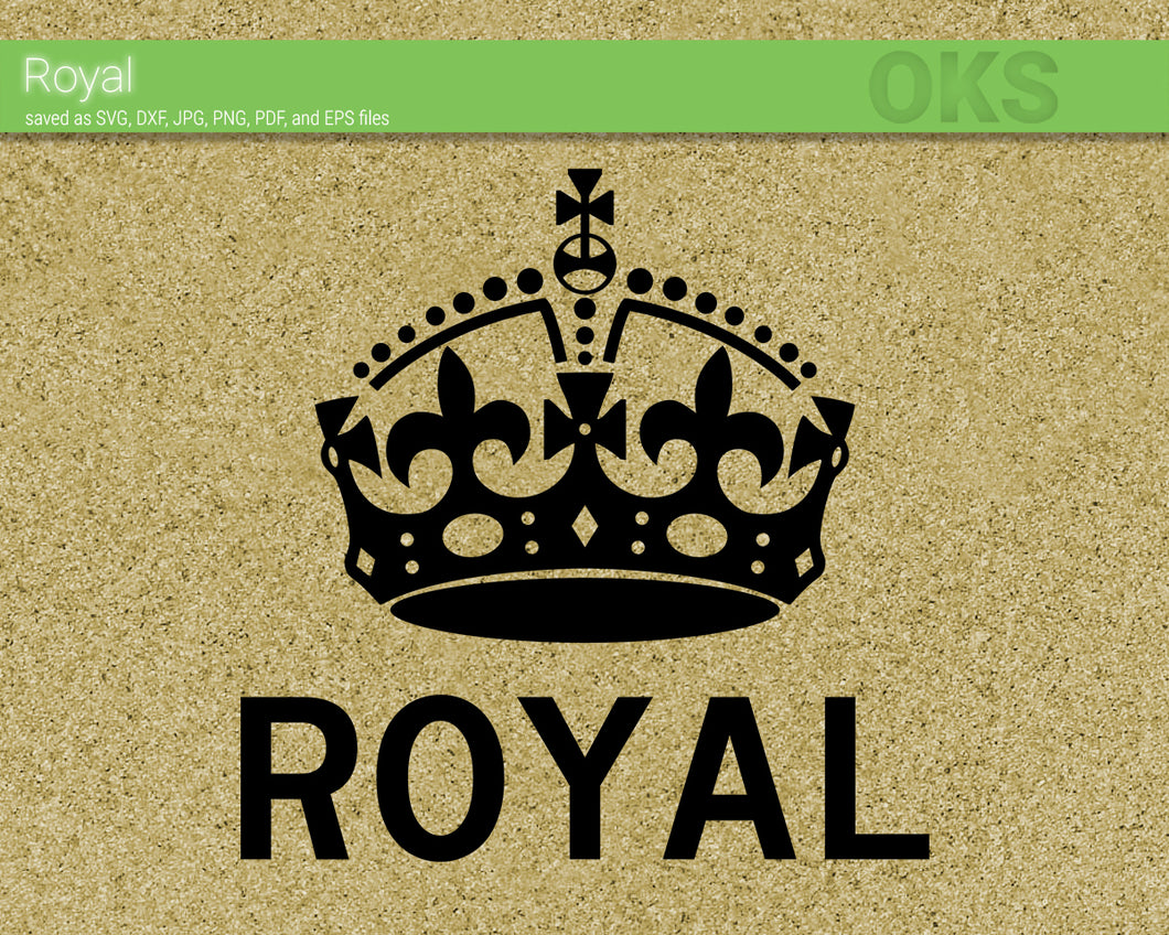 royal crown svg, dxf, vector, eps, clipart, cricut, download