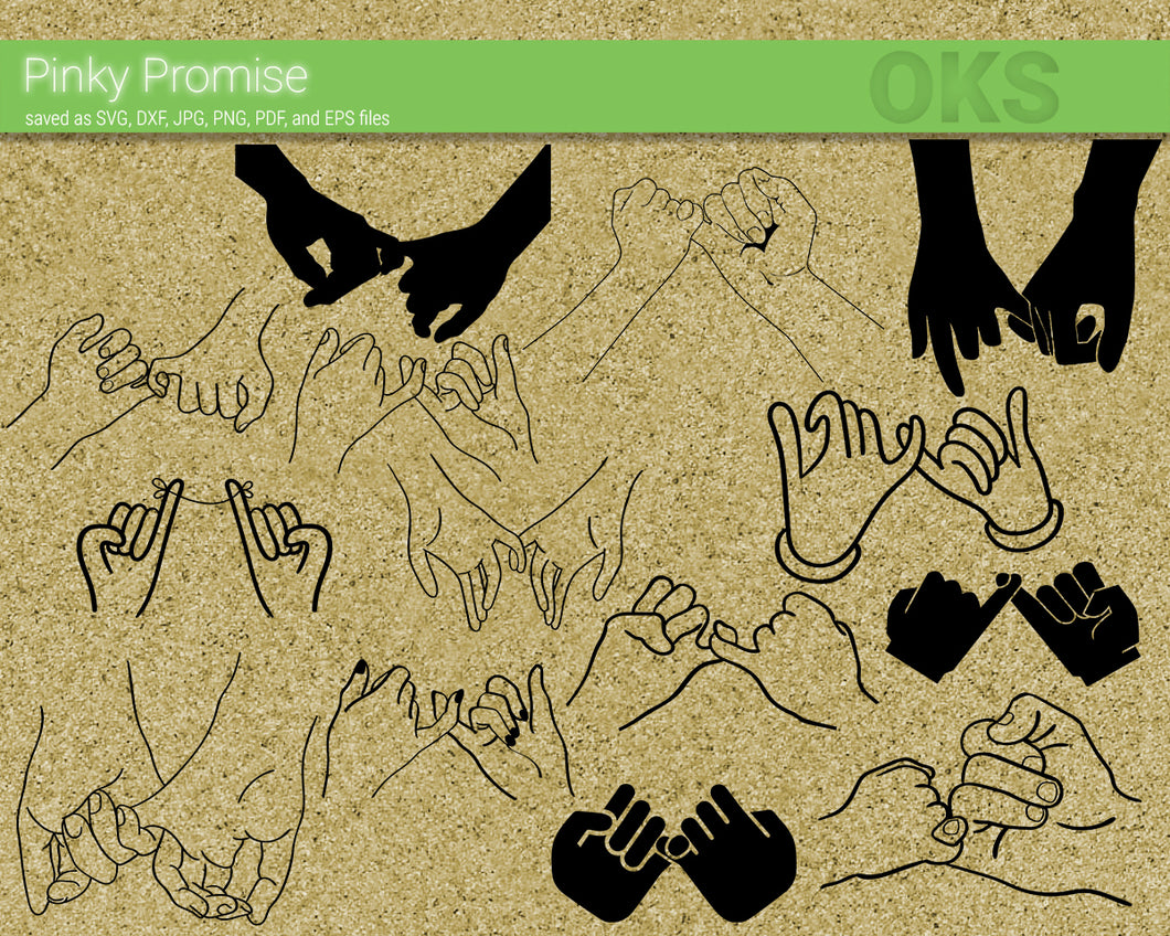 pinky promise svg, dxf, vector, eps, clipart, cricut, download