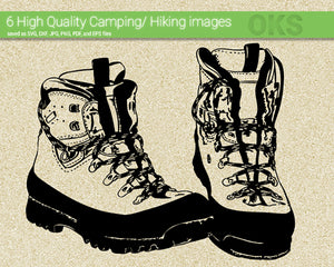 camping, hiking, boots, Crafteroks, free svg file, eps, dxf, vector, instant download, digital download, cutting file, svg clipart, cricut, svg vector, svg download, svg digital, clipart svg, vector svg, https://crafteroks.com/