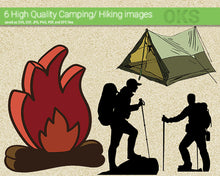 Load image into Gallery viewer, camping, hiking, people, tent, fire, camp, Crafteroks, free svg file, eps, dxf, vector, instant download, digital download, cutting file, svg clipart, cricut, svg vector, svg download, svg digital, clipart svg, vector svg, https://crafteroks.com/