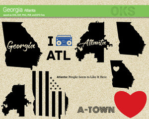 georgia, atlanta, american, flag, state, city, Crafteroks, free svg file, eps, dxf, vector, instant download, digital download, cutting file, svg clipart, cricut, svg vector, svg download, svg digital, clipart svg, vector svg, https://crafteroks.com/
