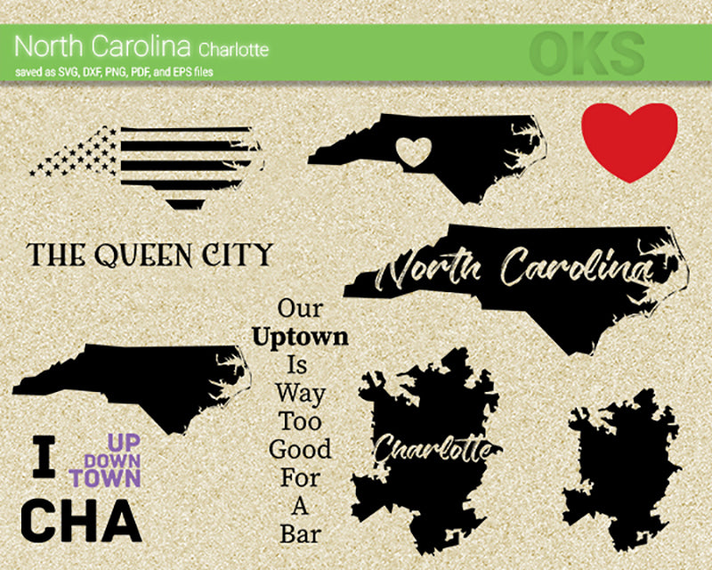 north, carolina, charlotte, map, flag, state, Crafteroks, free svg file, eps, dxf, vector, instant download, digital download, cutting file, svg clipart, cricut, svg vector, svg download, svg digital, clipart svg, vector svg, https://crafteroks.com/