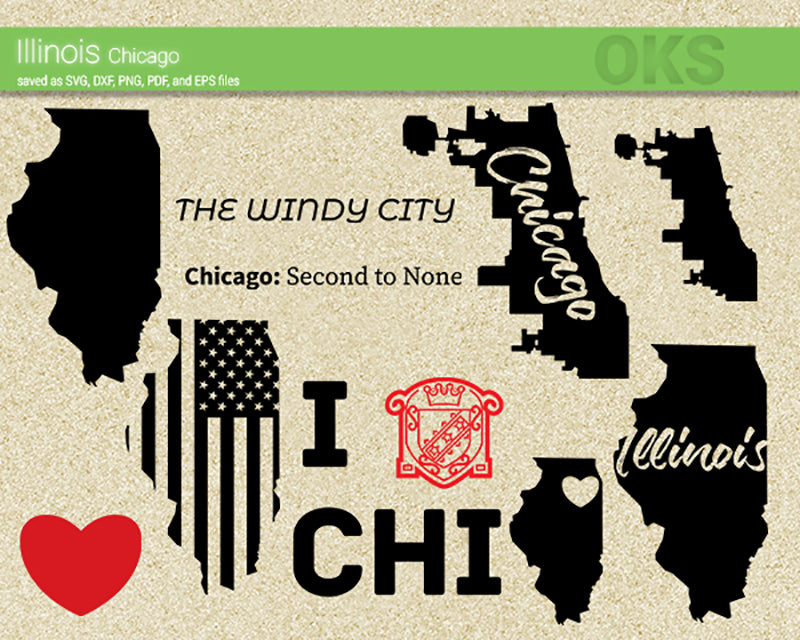 illinois, chicago, America, American, flag, state, city, US, united, states, map, love, Crafteroks, svg, free, free svg file, eps, dxf, vector, logo, silhouette, icon, instant download, digital download, cutting file, svg clipart, cricut, svg vector, svg download, svg digital, clipart svg, vector svg, https://crafteroks.com/
