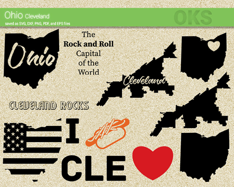 ohio, cleveland, America, American, flag, state, city, US, united, states, map, love, Crafteroks, svg, free, free svg file, eps, dxf, vector, logo, silhouette, icon, instant download, digital download, cutting file, svg clipart, cricut, svg vector, svg download, svg digital, clipart svg, vector svg, https://crafteroks.com/