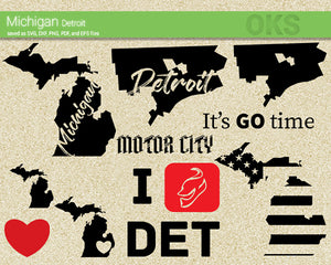 michigan, detroit, America, American, flag, state, city, US, united, states, map, love, Crafteroks, svg, free, free svg file, eps, dxf, vector, logo, silhouette, icon, instant download, digital download, cutting file, svg clipart, cricut, svg vector, svg download, svg digital, clipart svg, vector svg, https://crafteroks.com/