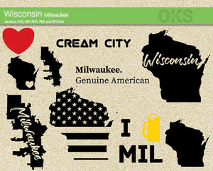 wisconsin, milwaukee, America, American, flag, state, city, US, united, states, map, love, Crafteroks, svg, free, free svg file, eps, dxf, vector, logo, silhouette, icon, instant download, digital download, cutting file, svg clipart, cricut, svg vector, svg download, svg digital, clipart svg, vector svg, https://crafteroks.com/