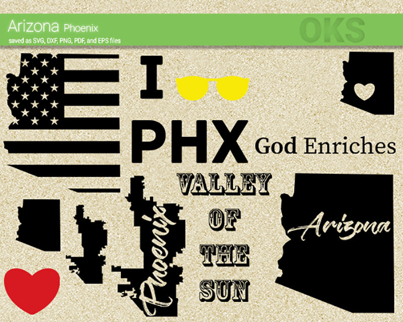 arizona, phoenix, sun, america, american, flag, map, state, city, love, US, Crafteroks, svg, free, free svg file, eps, dxf, vector, logo, silhouette, icon, instant download, digital download, cutting file, svg clipart, cricut, svg vector, svg download, svg digital, clipart svg, vector svg, https://crafteroks.com/