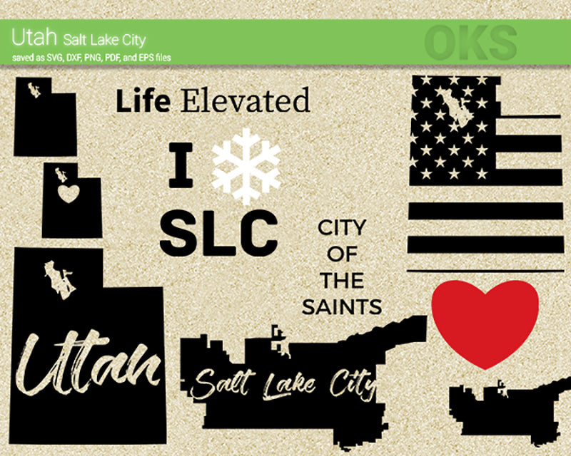 utah, salt, lake, city, us, map, state, america, american, flag, Crafteroks, svg, free, free svg file, eps, dxf, vector, logo, silhouette, icon, instant download, digital download, cutting file, svg clipart, cricut, svg vector, svg download, svg digital, clipart svg, vector svg, https://crafteroks.com/