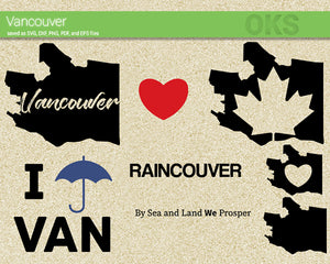 vancouver, canada, city, state, flag, maple, map, Crafteroks, svg, free, free svg file, eps, dxf, vector, logo, silhouette, icon, instant download, digital download, cutting file, svg clipart, cricut, svg vector, svg download, svg digital, clipart svg, vector svg, https://crafteroks.com/