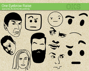 eyebrow, raise, rise, Crafteroks, svg, free, free svg file, eps, dxf, vector, logo, silhouette, icon, instant download, digital download, cutting file, svg clipart, cricut, svg vector, svg download, svg digital, clipart svg, vector svg, https://crafteroks.com/