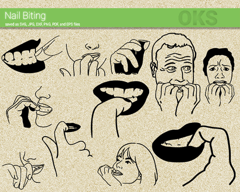 nail, bite, biting, expression, gesture, people, Crafteroks, svg, free, free svg file, eps, dxf, vector, logo, silhouette, icon, instant download, digital download, cutting file, svg clipart, cricut, svg vector, svg download, svg digital, clipart svg, vector svg, https://crafteroks.com/