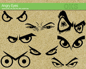 angry, eyes, mad, furious, Crafteroks, svg, free, free svg file, eps, dxf, vector, logo, silhouette, icon, instant download, digital download, cutting file, svg clipart, cricut, svg vector, svg download, svg digital, clipart svg, vector svg, https://crafteroks.com/